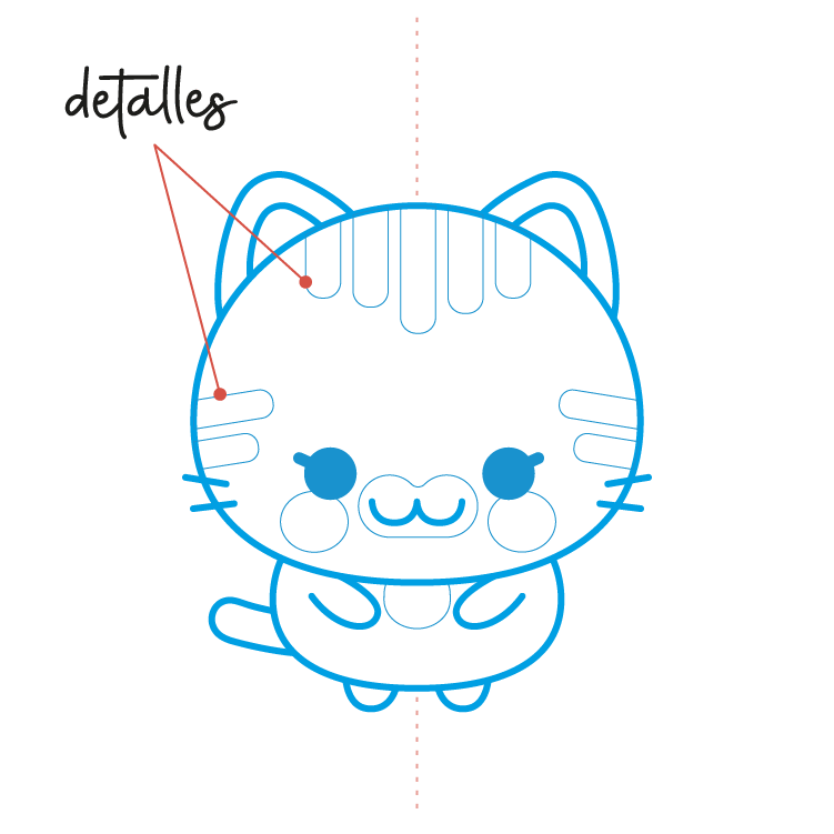 Dibujar un Gato Kawaii